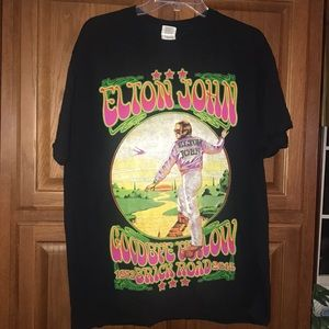 Elton John Concert Shirt 2014 Yellow Brick Road L